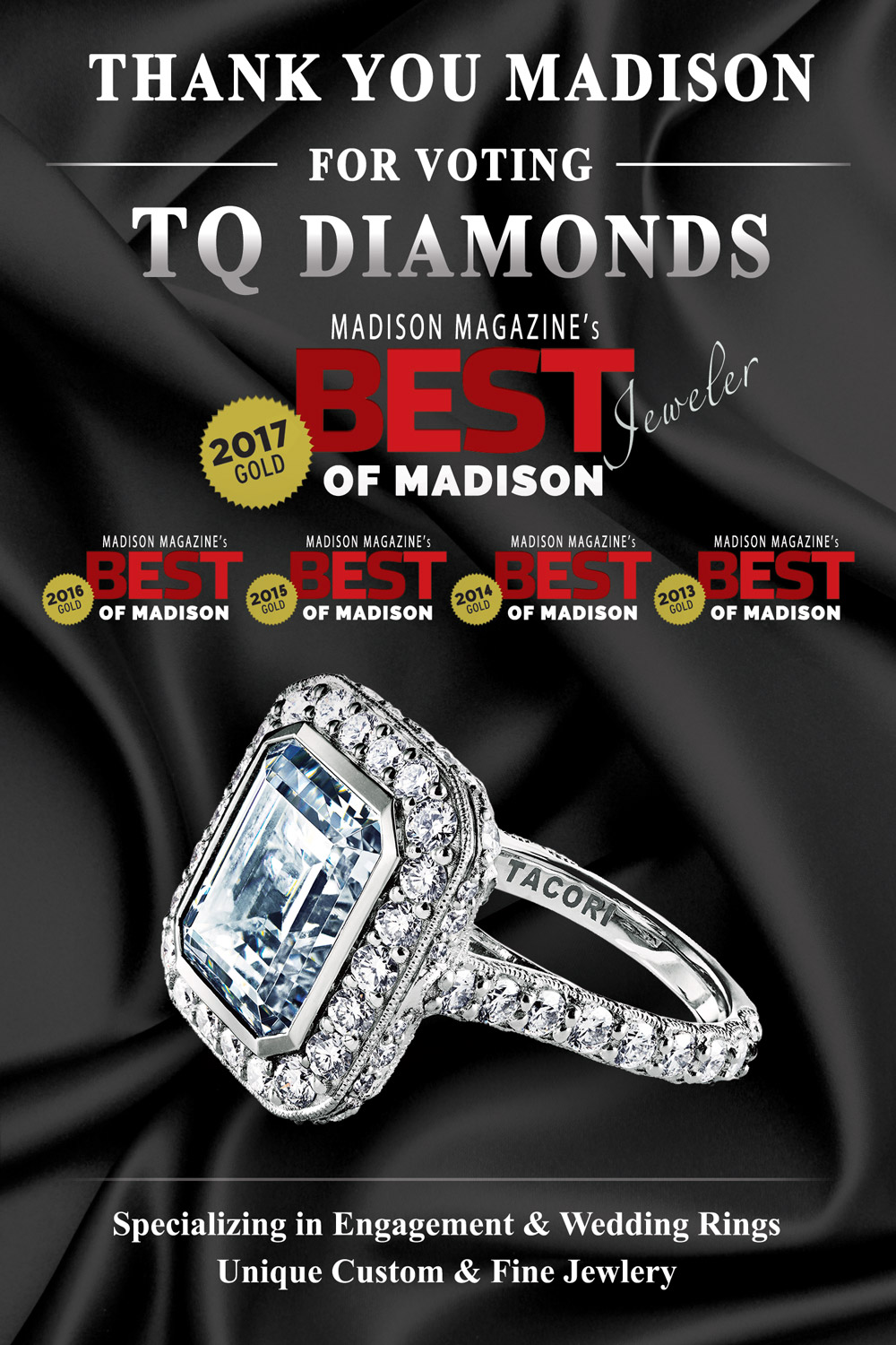 TQ Diamonds - Best Jeweler of Madison 2017