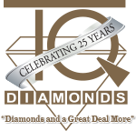 TQ Diamonds 25th Anniversary Logo