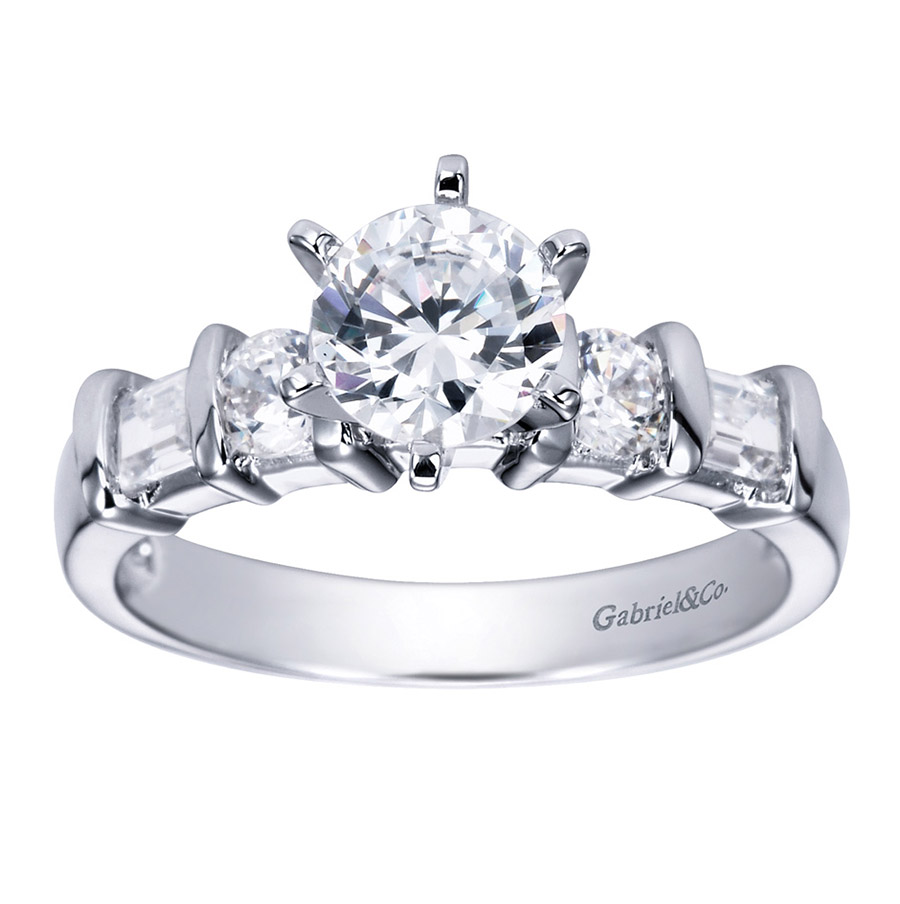 Gabriel Platinum Contemporary Engagement Ring ER2692PT3JJ Alternative View 4