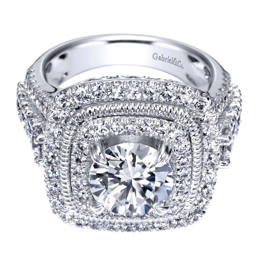 Gabriel 14 Karat Contemporary Engagement Ring ER8461W83JJ