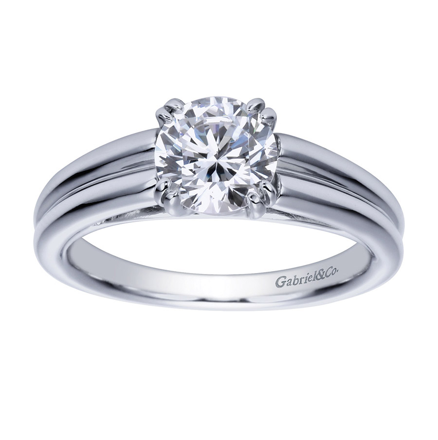 Gabriel Platinum Contemporary Engagement Ring ER8136PTJJJ Alternative View 4