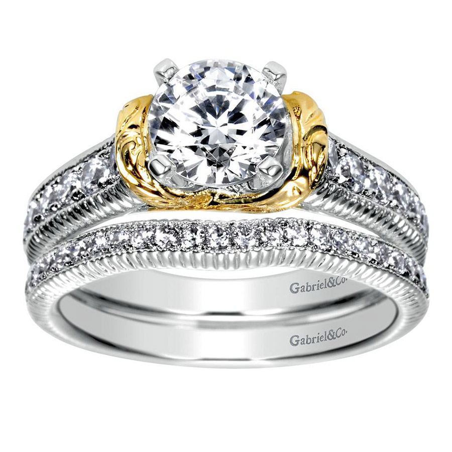Gabriel 14 Karat Contemporary Engagement Ring ER9238M44JJ Alternative View 3