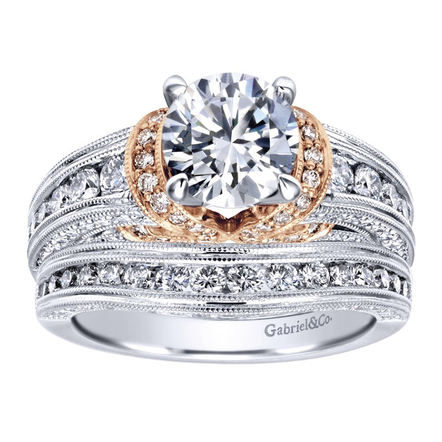 Gabriel 14 Karat Victorian Engagement Ring ER11835R4T44JJ Alternative View 3