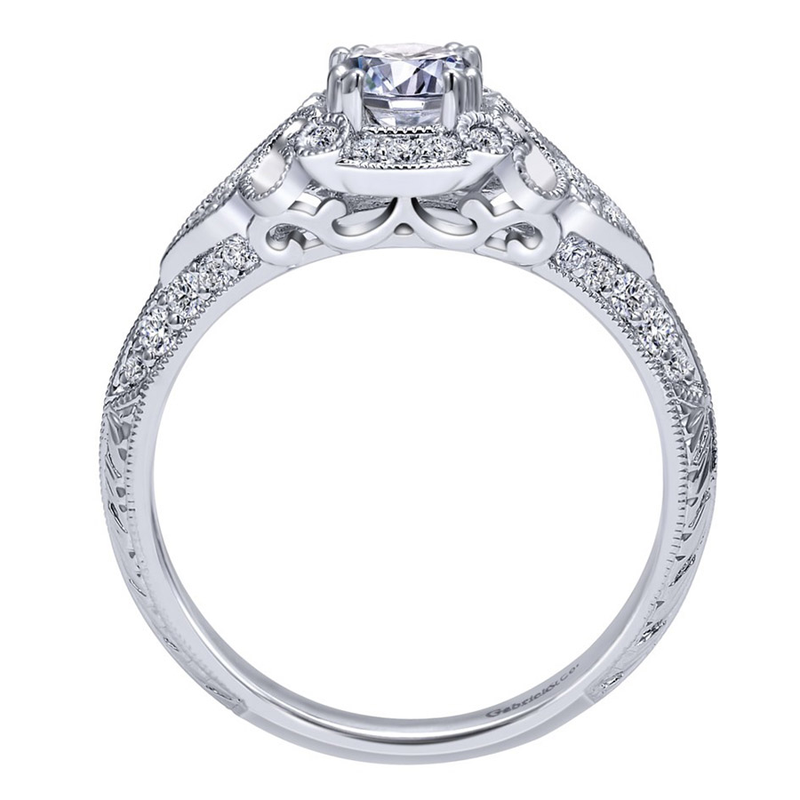 Gabriel 14 Karat Victorian Engagement Ring Er911865r0w44jj Alternative  View 1