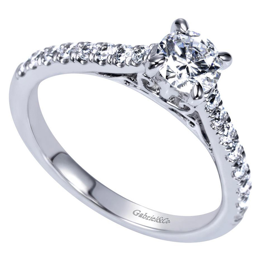 Gabriel 14 Karat Contemporary Engagement Ring ER98539W44JJ Alternative View 2