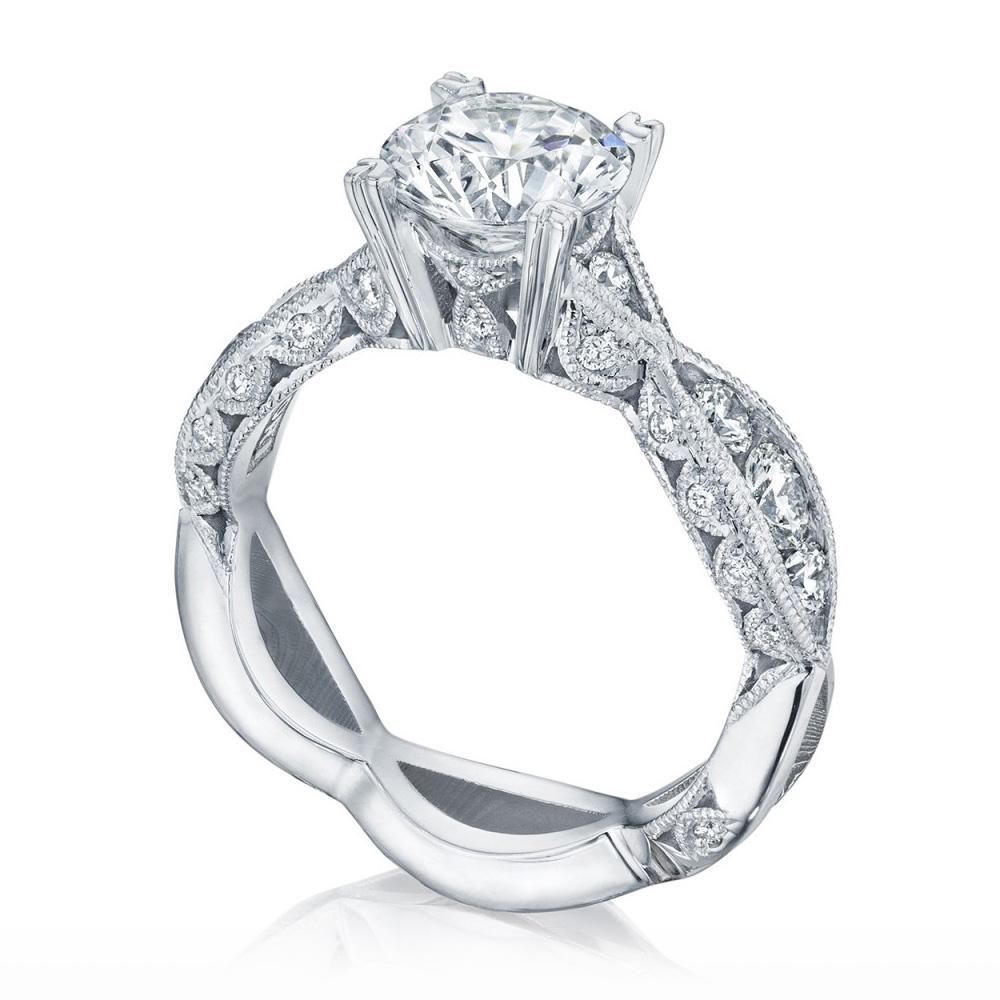 Wedding Rings Tacori 2644rd7512 Platinum Tacori Classic Crescent Engagement