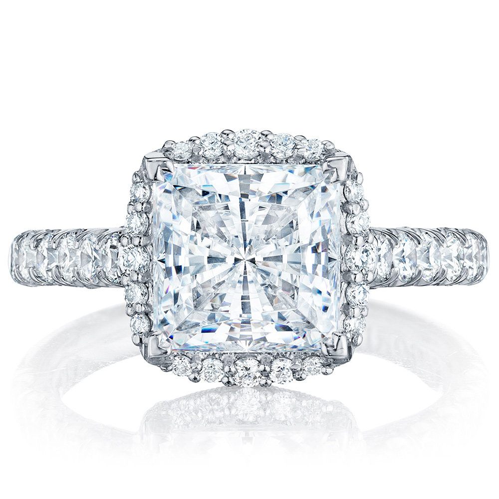 HT254725PR8 Platinum Tacori Petite Crescent Engagement Ring