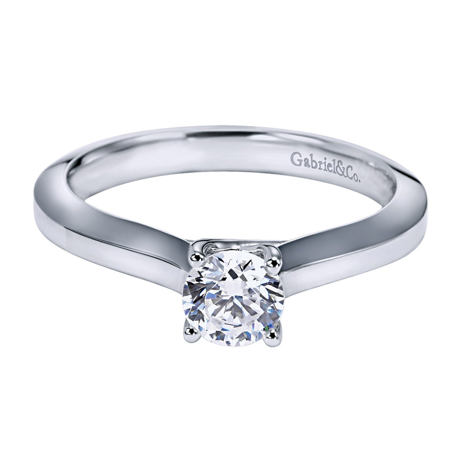 Gabriel Platinum Contemporary Engagement Ring ER6609PTJJJ