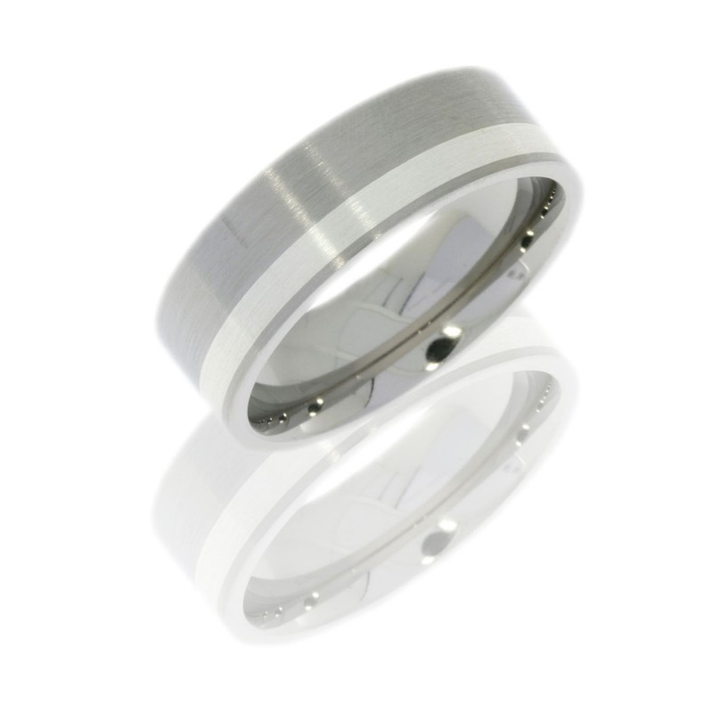 Lashbrook 7F12OC/SS SATIN Titanium Wedding Ring or Band
