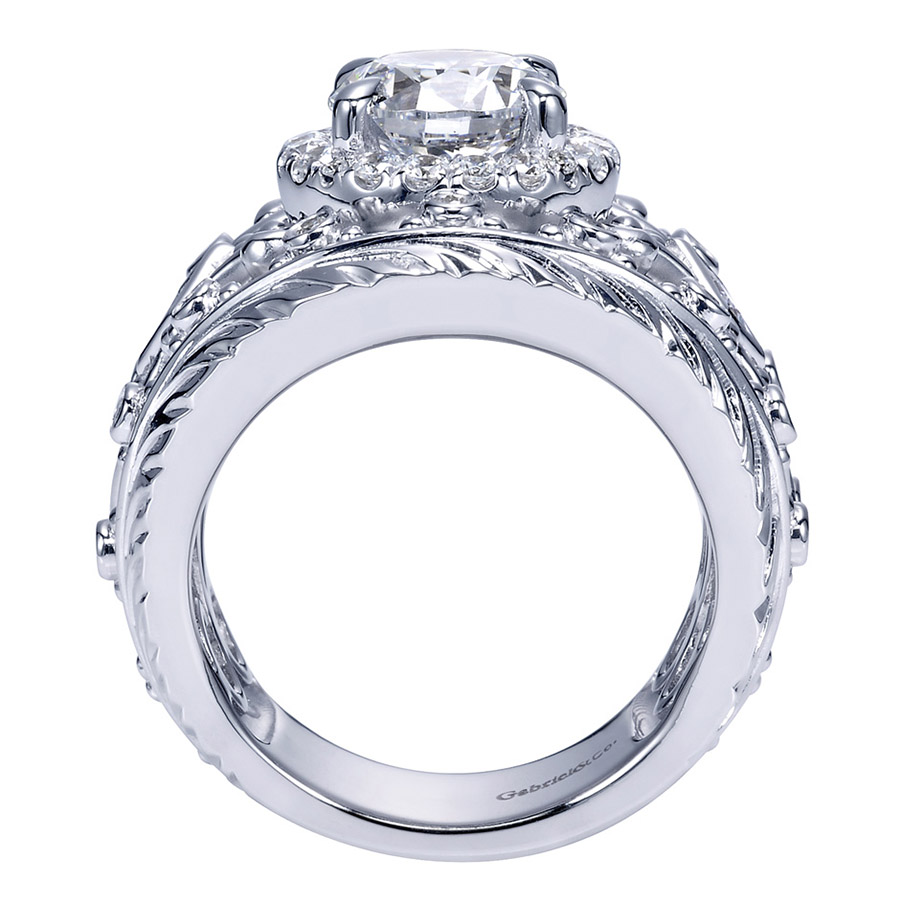 Gabriel 14 Karat Victorian Engagement Ring ER8458W83JJ Alternative View 1
