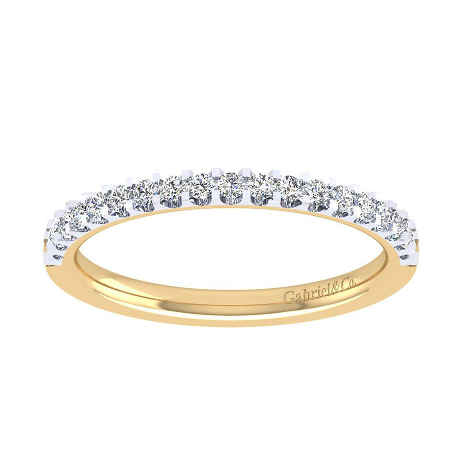 Gabriel 14 Karat Contemporary Wedding Band WB7510Y44JJ Alternative View 4