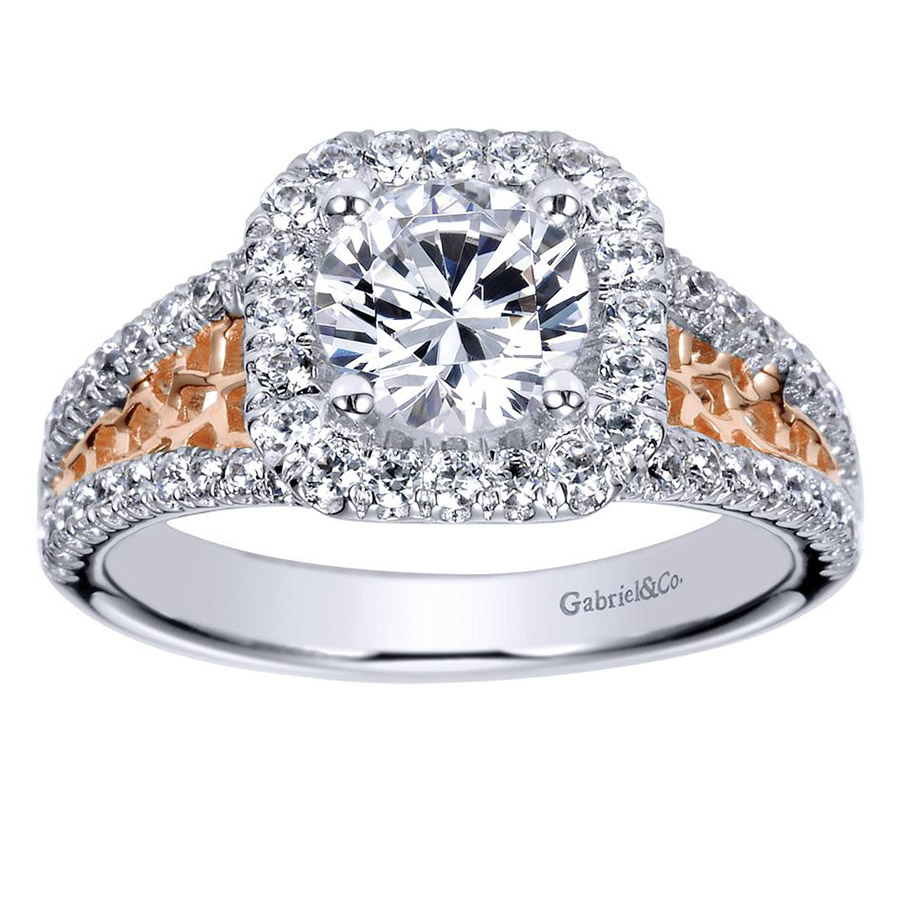 Gabriel 14 Karat Contemporary Engagement Ring ER9035T44JJ Alternative View 4