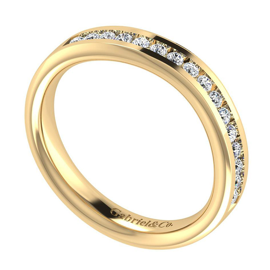 Gabriel 14 Karat Contemporary Wedding Band WB8189Y44JJ Alternative View 2