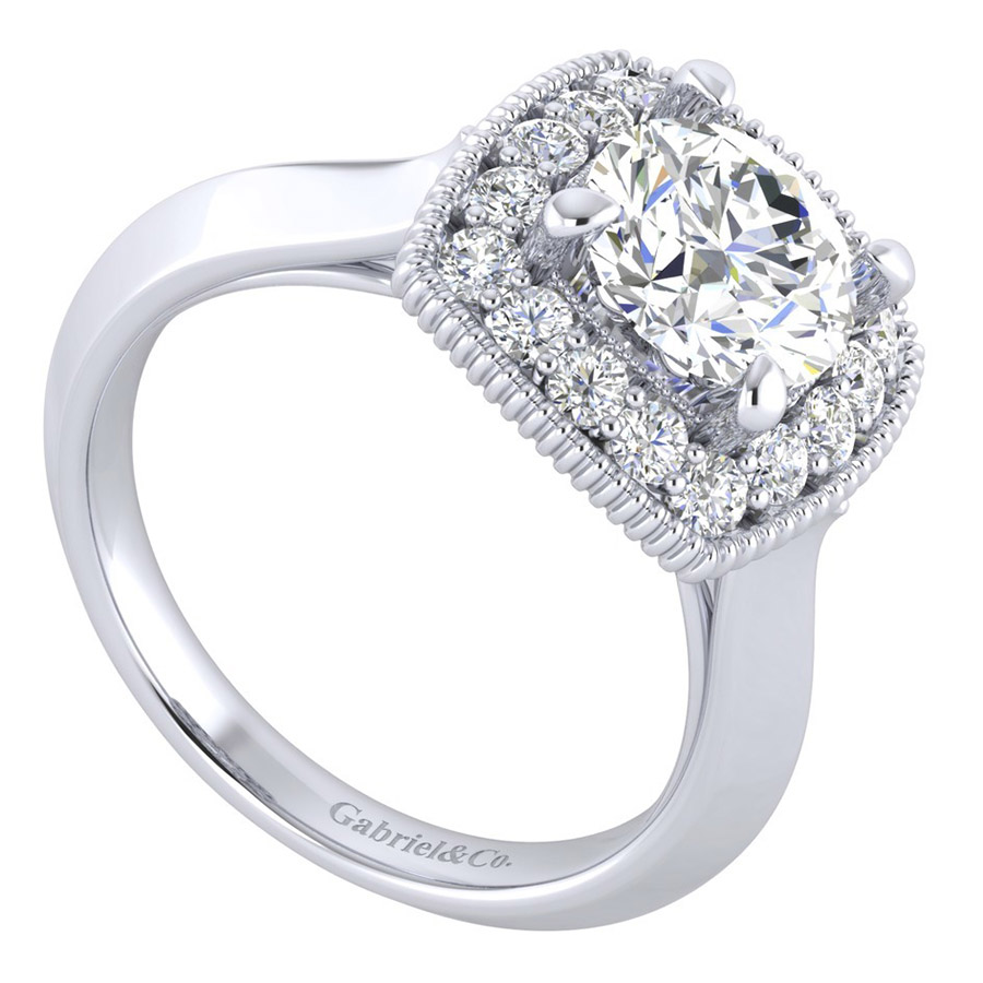 Gabriel 14 Karat Perfect Match Engagement Ring ER001C6ABW44JJ Alternative View 2