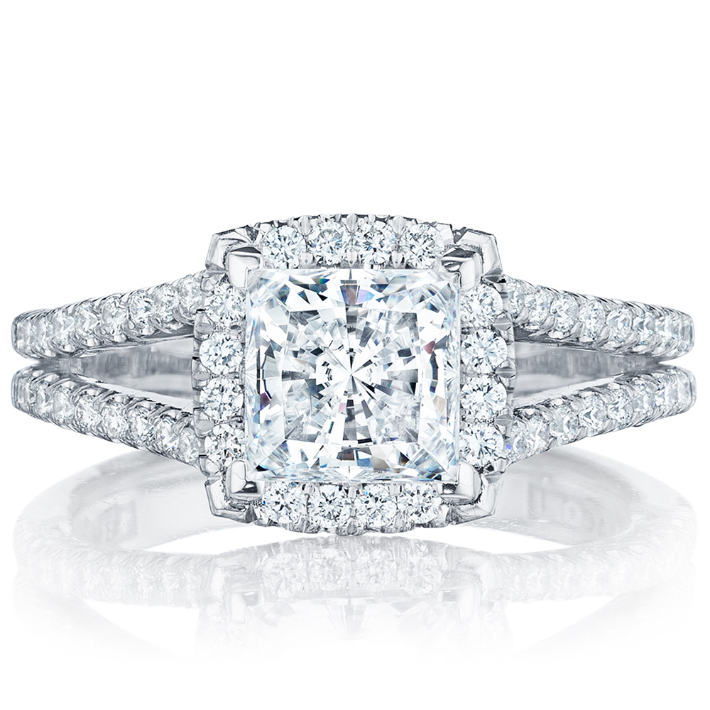 HT2548PR65 Platinum Tacori Petite Crescent Engagement Ring