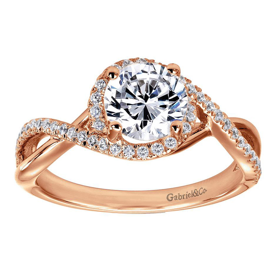 Gabriel 14 Karat Contemporary Engagement Ring ER7804K44JJ Alternative View 4