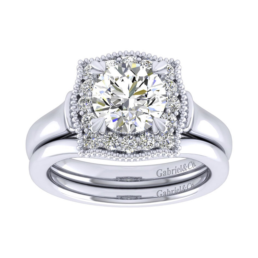 Gabriel 14 Karat Perfect Match Engagement Ring ER009C6AAW44JJ Alternative View 3