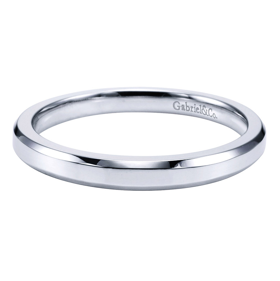 Gabriel Platinum Contemporary Wedding Band WB6591PTJJJ