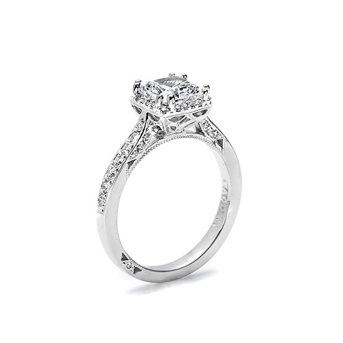 Tacori Platinum Dantela Engagement Ring 2620PRMDP Alternative View 1