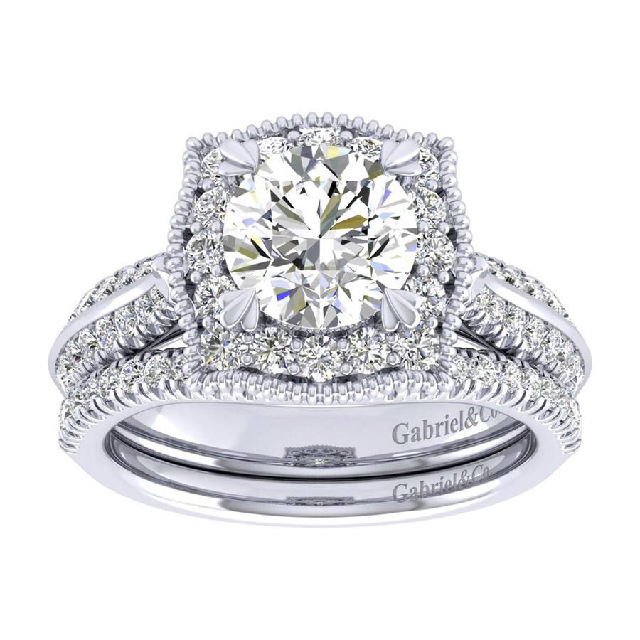 Gabriel 14 Karat Perfect Match Engagement Ring ER002C6AAW44JJ Alternative View 3