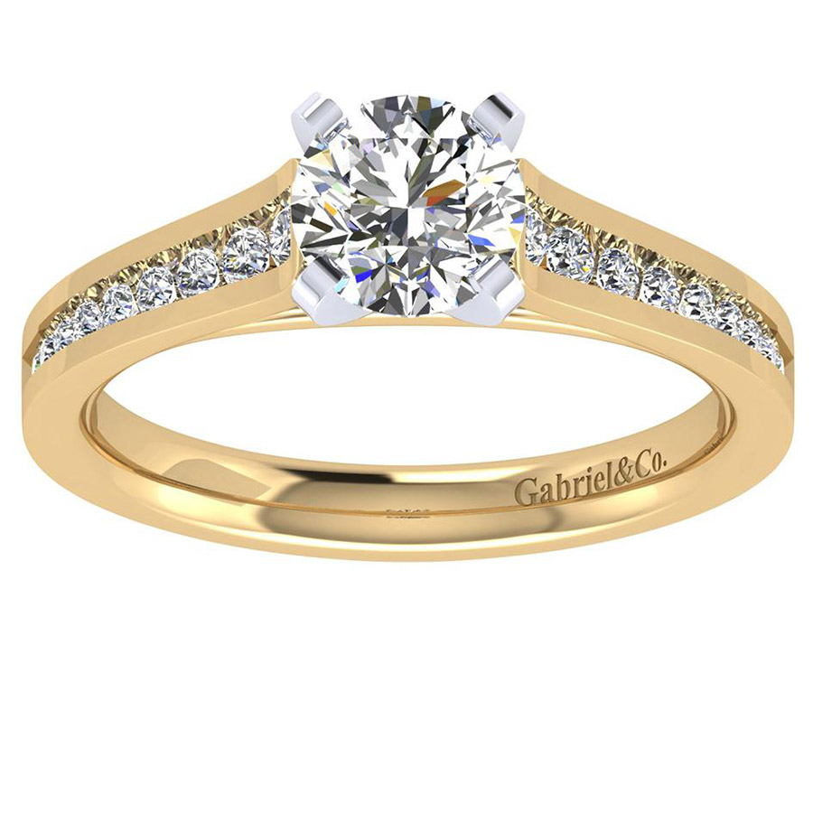 Gabriel 14 Karat Contemporary Engagement Ring ER8223M44JJ Alternative View 4