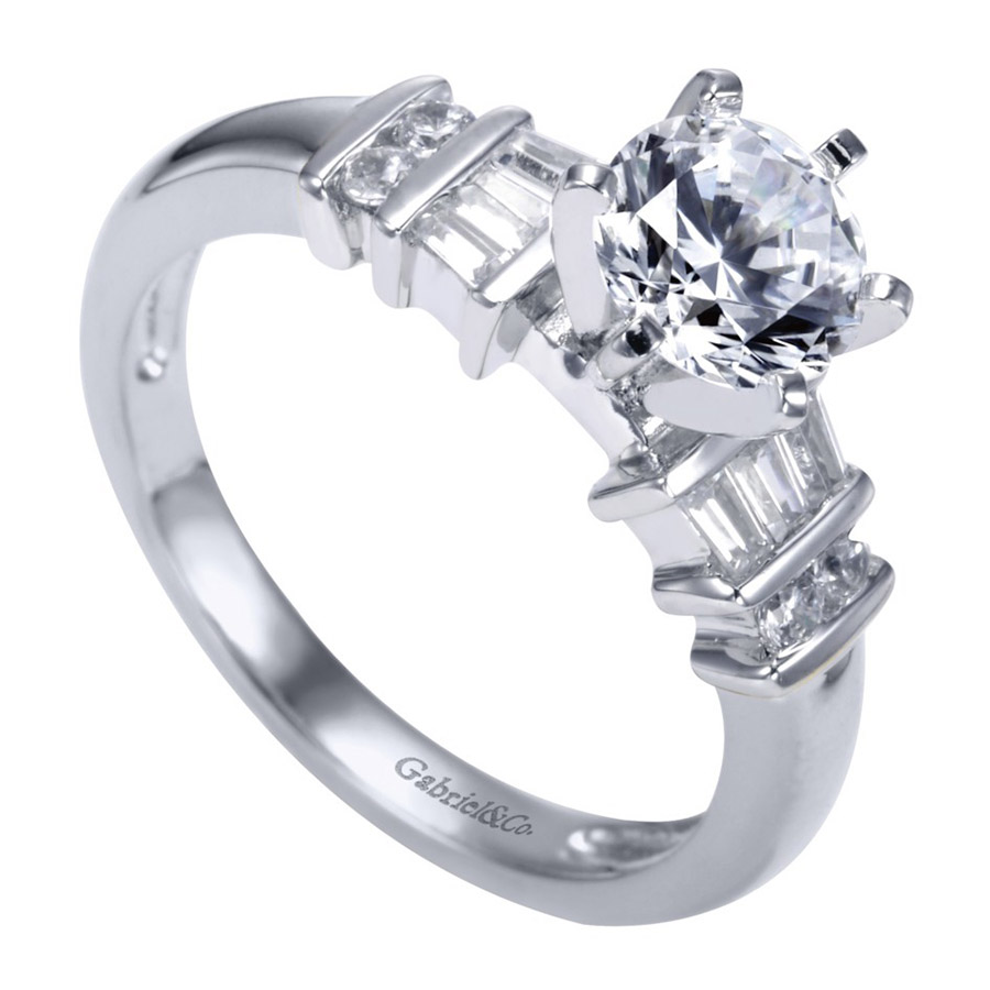 Gabriel 14 Karat Contemporary Engagement Ring ER2662PT3JJ Alternative View 2