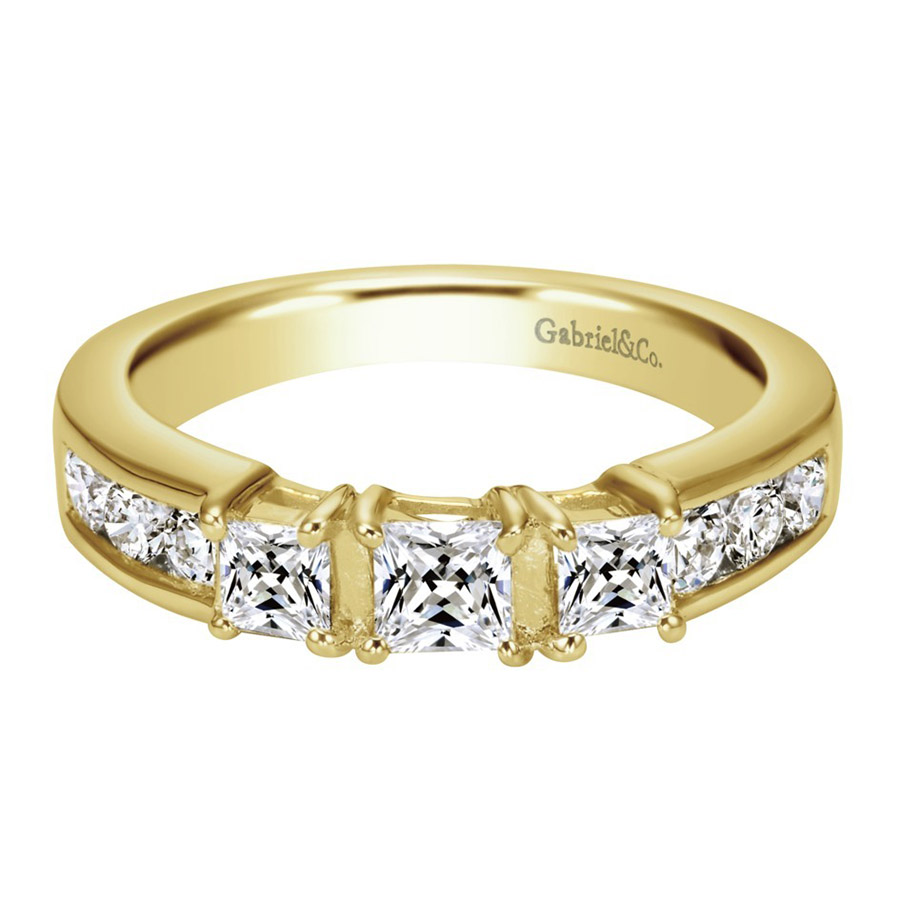 Gabriel 14 Karat Contemporary Wedding Band WB3677Y44JJ