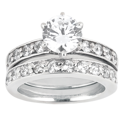 Taryn Collection Platinum Diamond Engagement Ring TQD A-6131