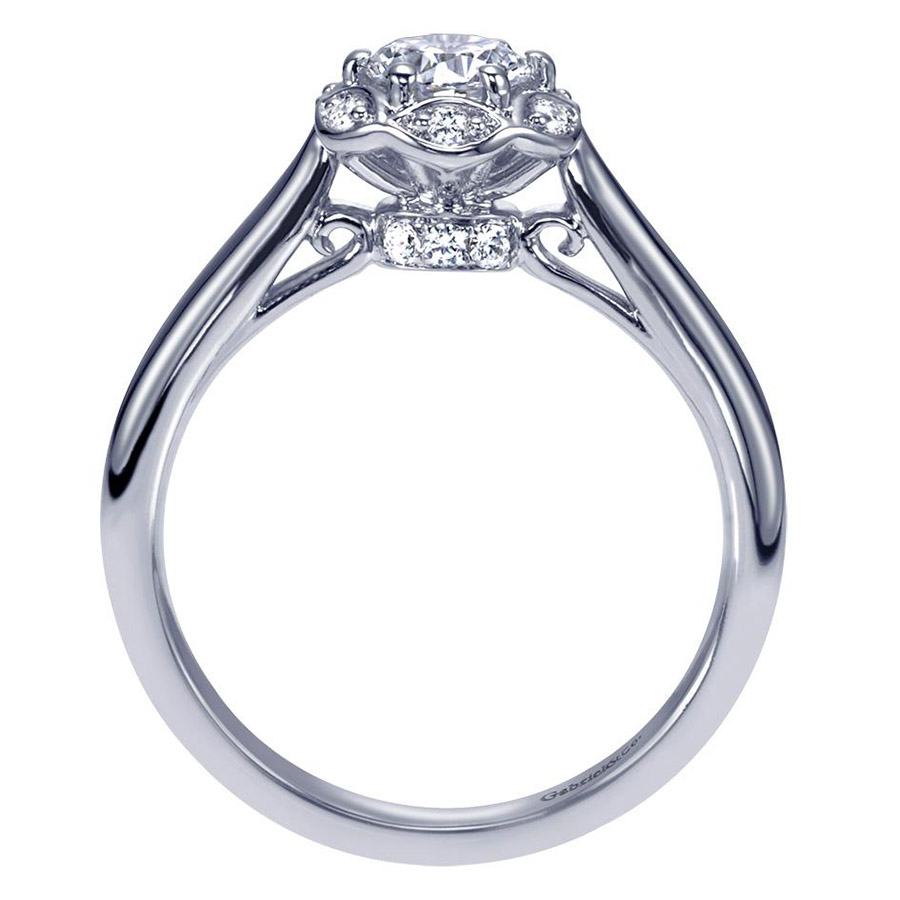 Gabriel 14 Karat Contemporary Engagement Ring ER98585W44JJ Alternative View 1