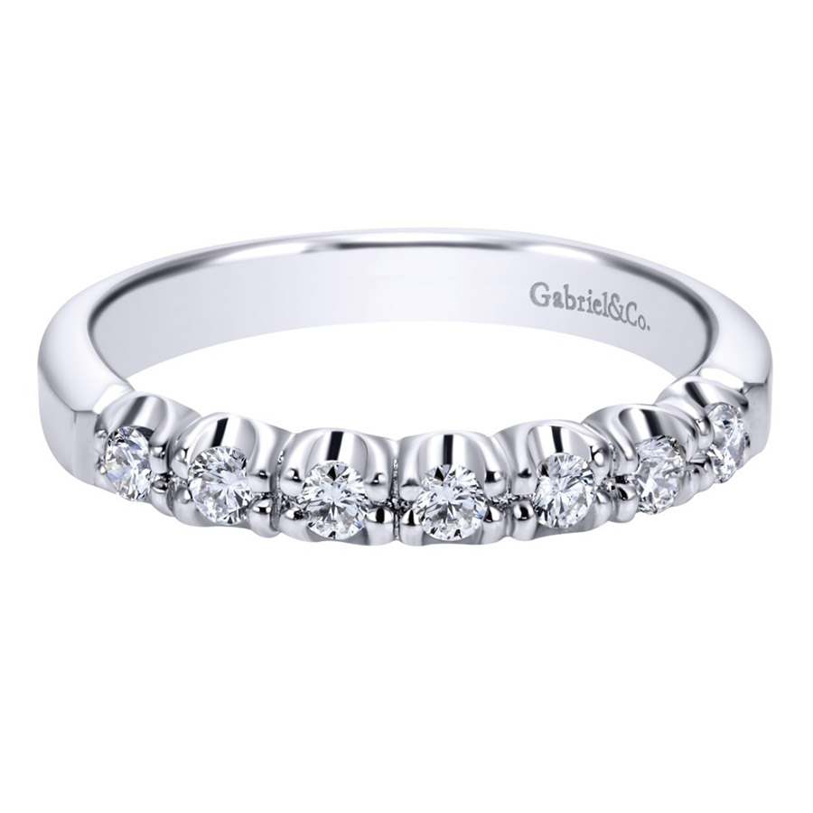 Gabriel Platinum Contemporary Wedding Band WB1718PT3JJ