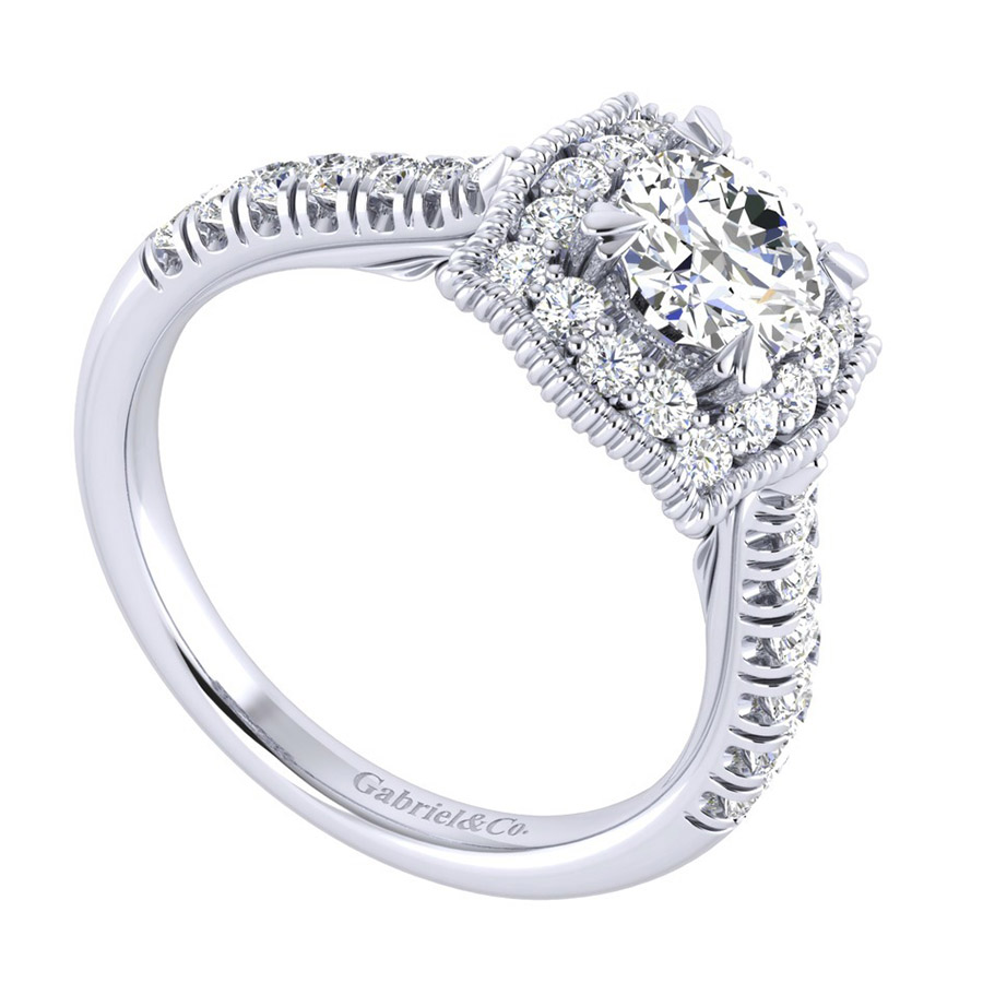 Gabriel 14 Karat Perfect Match Engagement Ring ER039B3AAW44JJ Alternative View 2