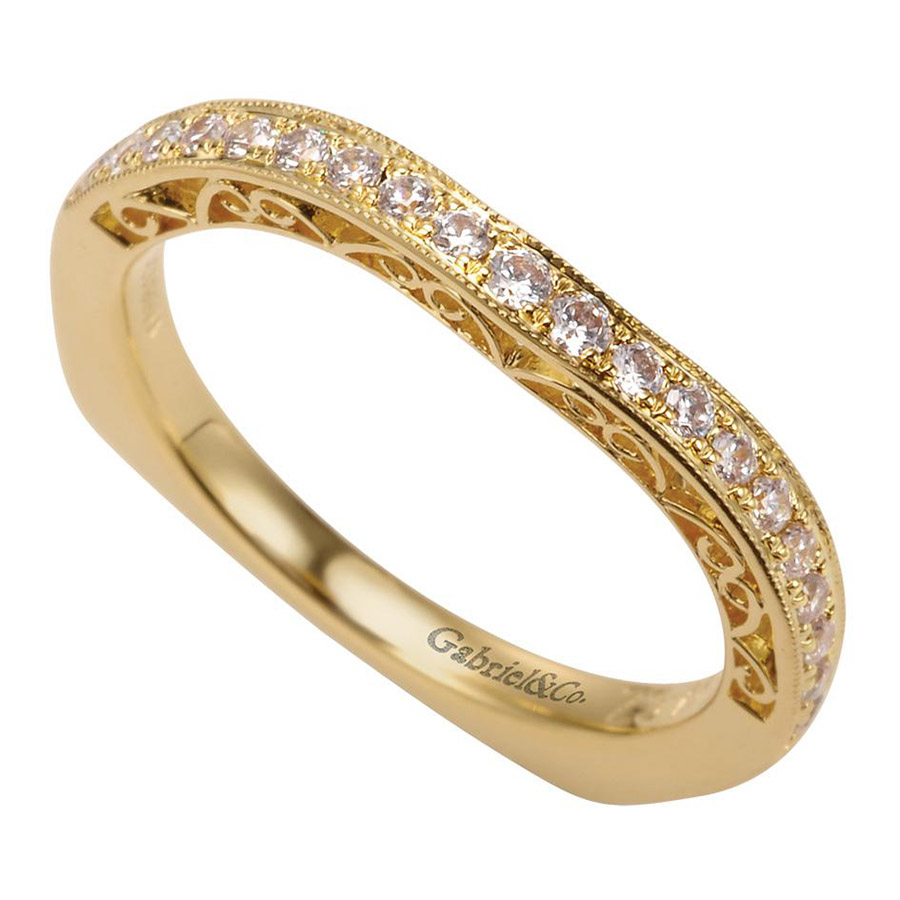 Gabriel 14 Karat Contemporary Wedding Band WB6101Y44JJ Alternative View 2
