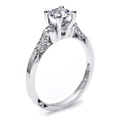 Tacori Platinum Solitaire Engagement Ring 2590RD55 Alternative View 1