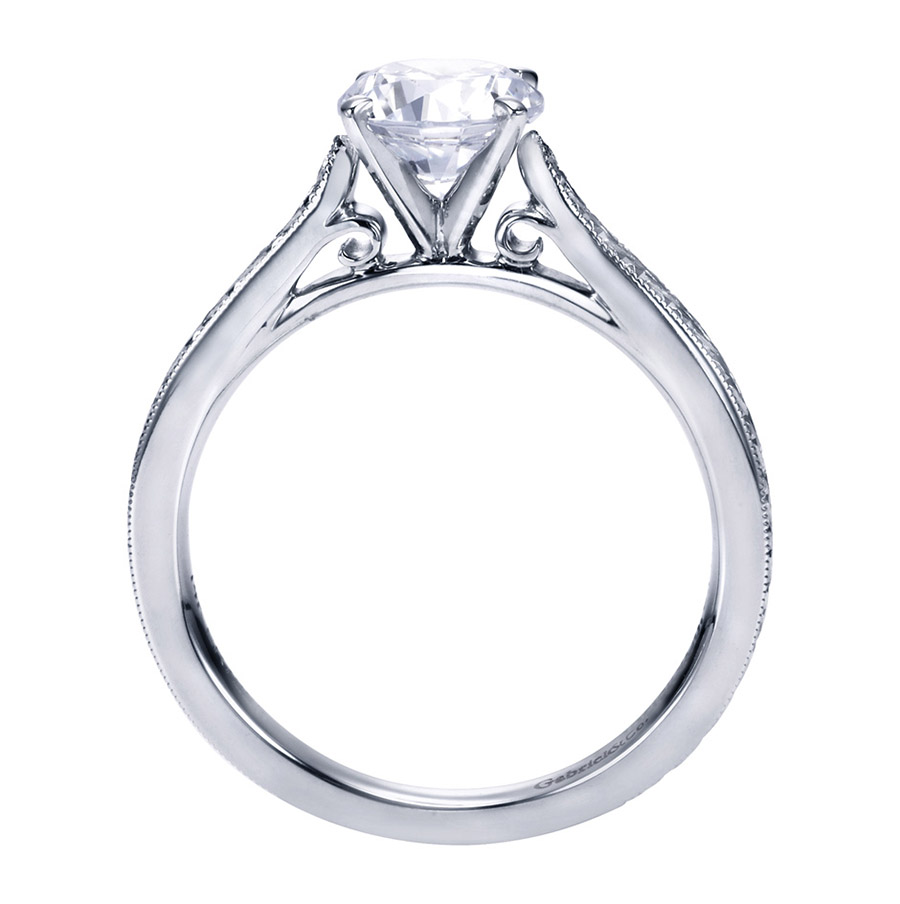 Gabriel Platinum Victorian Engagement Ring ER7223PTJJJ Alternative View 1