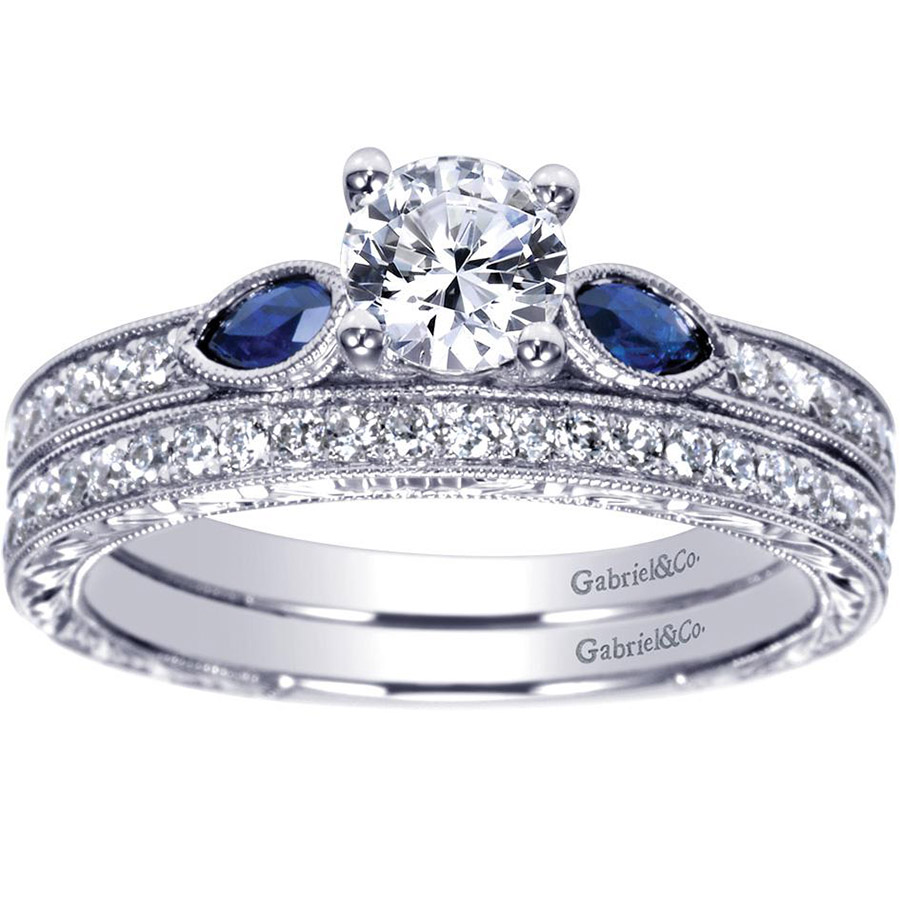 Gabriel 14 Karat Victorian Engagement Ring ER98990W44SA Alternative View 3