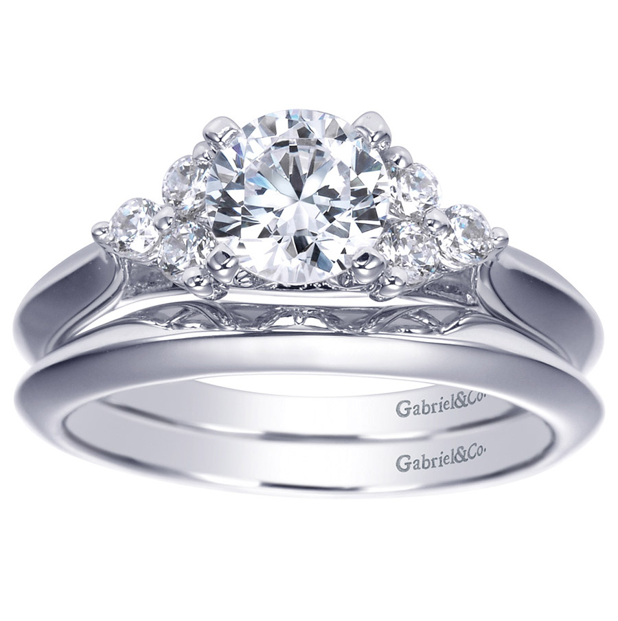 Gabriel Platinum Contemporary Wedding Band WB7995PTJJJ Alternative View 3