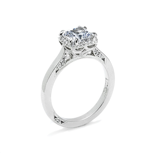 Tacori Platinum Dantela Engagement Ring 2620PRLG Alternative View 1