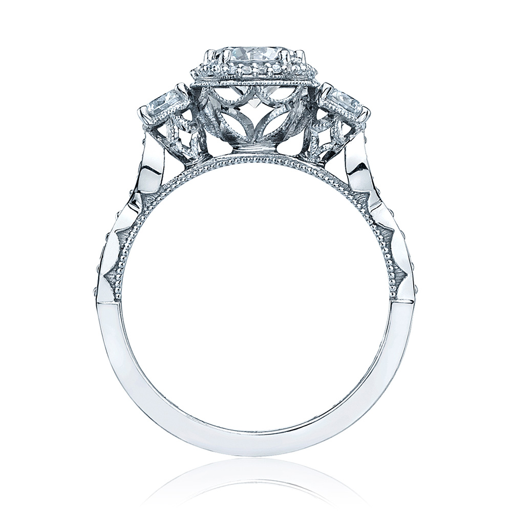 Tacori 54-2RD65 18 Karat Dantela Engagement Ring Alternative View 1