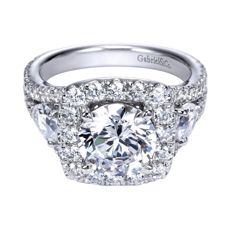 Gabriel 14 Karat Contemporary Engagement Ring ER8328W83JJ