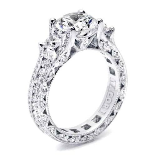 Tacori Crescent Platinum Engagement Ring HT2514RD85 Alternative View 1