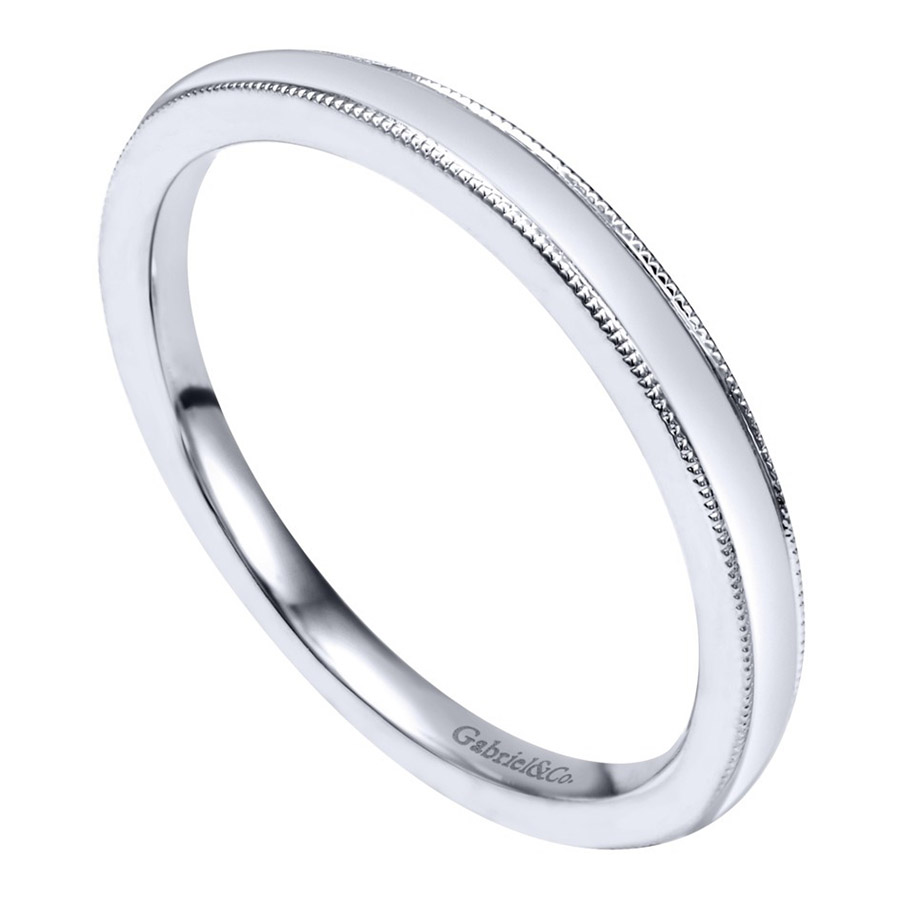 Gabriel 14 Karat Contemporary Wedding Band WB10070W4JJJ Alternative View 2