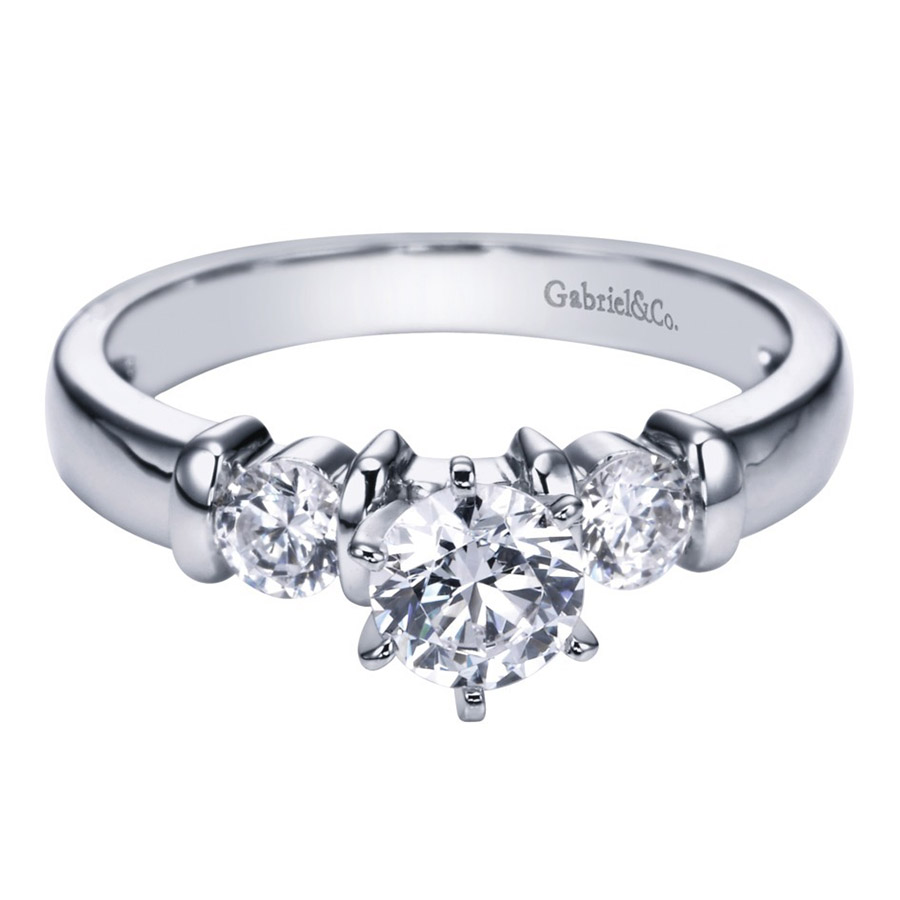 Gabriel 14 Karat Contemporary Engagement Ring ER1701PT3JJ
