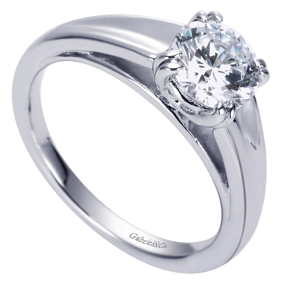 Gabriel Platinum Contemporary Engagement Ring ER8137PTJJJ Alternative View 2