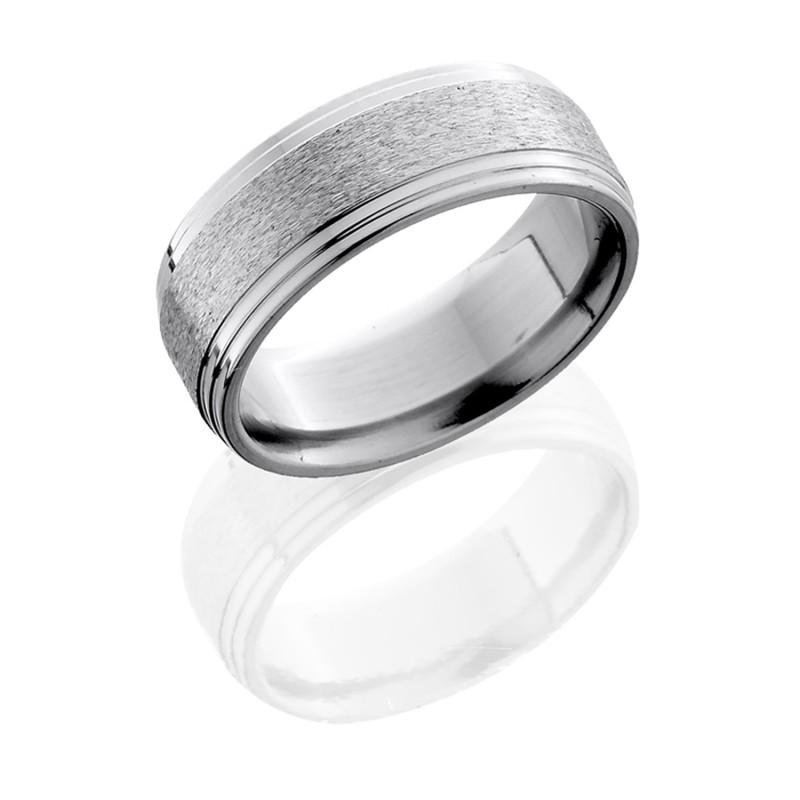 Lashbrook 8F2S STONE POLISH Titanium Wedding Ring Or Band
