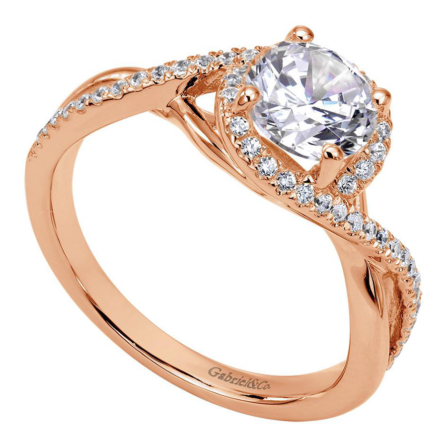 Gabriel 14 Karat Contemporary Engagement Ring ER7804K44JJ Alternative View 2