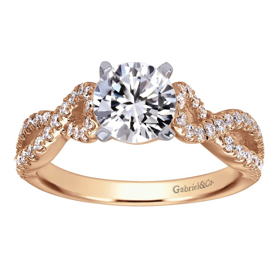 Gabriel 14 Karat Contemporary Engagement Ring ER7805T44JJ Alternative View 4