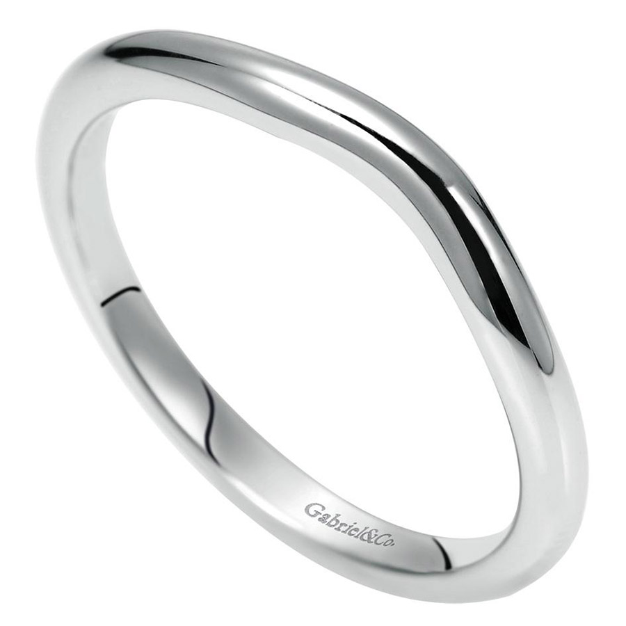 Gabriel 14 Karat Contemporary Wedding Band WB8434W4JJJ Alternative View 2
