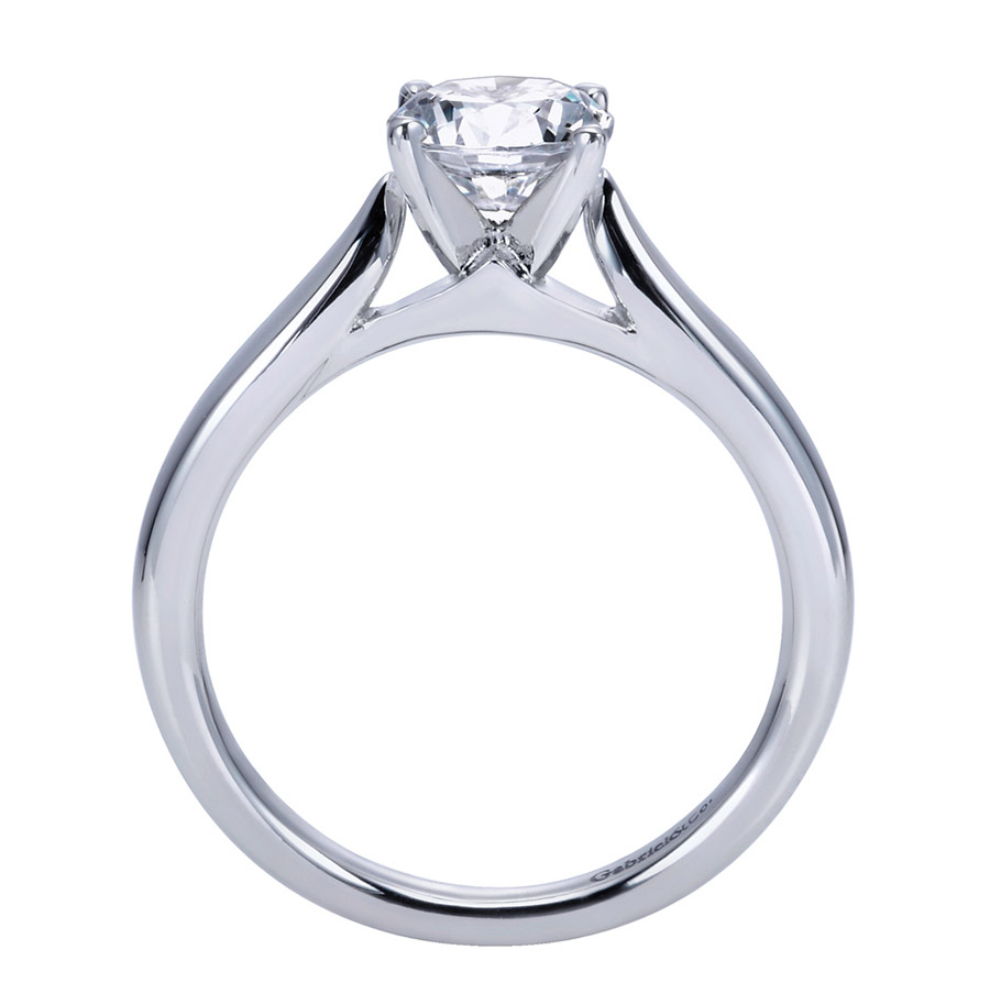 Gabriel Platinum Contemporary Engagement Ring ER7894PTJJJ Alternative View 1