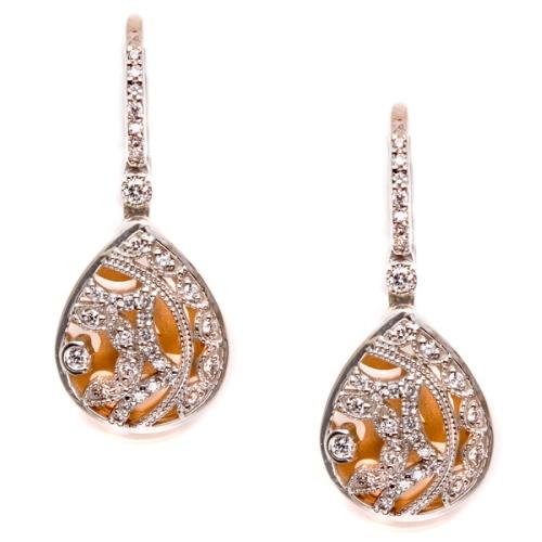 tacori diamond earrings platinum fine jewelry fe624 tq