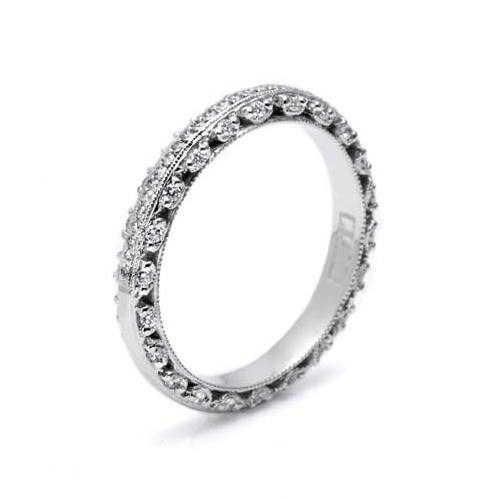 Tacori Platinum Crescent Silhouette Wedding Band HT2370P Alternative View 1